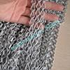 9mm Size Matte Silver Color Aluminum Chain Link Curtains