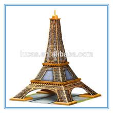 Fashion deisgn Eiffel Tower diy 3d puzzle game
