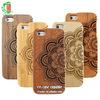 For Iphone Wood Case Mandala Pattern Engraved