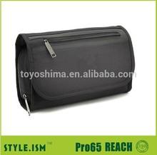 Black custom business hanging foldable men travel toiletry bag