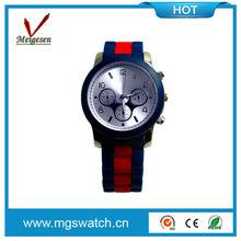 Fashion geneva quartz silicone watch 3 ATM waterproof mix colors watches