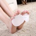 silicone zrwc05 meia palmilha para pé da frente dor antepé almofada almofada de gel para sapatos de salto alto