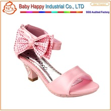 Brand girl child cheap wholesale high heel shoes for children