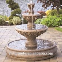 3 tier garden water fountain with surround