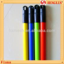 Low price plastic coated metal broom handle sweeping broom