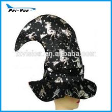 velluto nero strega cappello costume