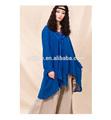 2014 nova marca de alta qualidade bordado maxi blusa, manga comprida blusa plus size para senhoras, blusa de algodão superior
