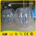 Venda quente segurança hamster 1.2m/1.5m 1.0mm pvc/tpu bolha de futebol
