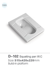 102 Sanitary ware toilet ceramic squatting pan wc
