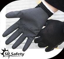 SRSAFETY 13G knitted nylon coated super nitrile gloves,Sandy finish