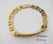 SSB0068 316L stainless steel gold bracelet designs men