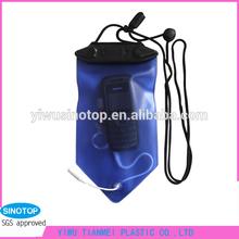 2014 hot selling pvc waterproof mobile mp3 player bag yiwu wholesale