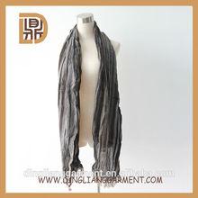 2014 custom jacquard striped fashion young tube loop scarf