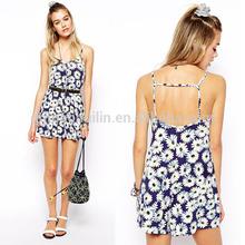 sex australia girls backless flower printed dress