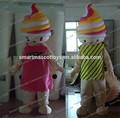 boa ventilação boa visão casal sorvete mascote traje adulto traje de sorvete para venda