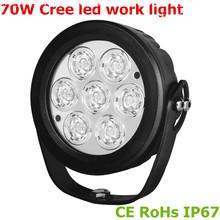 Cree 70w led work light 10-30v DC Truck light led working light 10w led work lamp forklift truck, Jeep wrangler, Car accessories