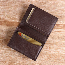newest leather card cover card holder Italian second cow leather coffee color card