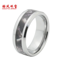2015 Newest tungsten ring with tree camo inlay high quality with comfort fit