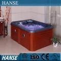Hs-095cyราคาต่ำ3คนมินิร่มนวดสปาอ่างน้ำร้อนเย็น