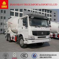 sinotruk howo10 cbm concrete mixer truck with hydraulic pump