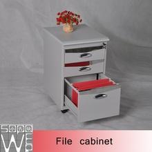 Office 3 drawers metal mobile pedestal