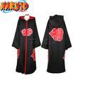 Nóng phim hoạt hình naruto cosplay trang phục akatsuki ninja thống nhất/áo choàng trùm đầu