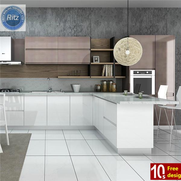 Moderne keuken kast met deurknoppen in verschillende kleuren keuken kasten product id 1873630971 - Afbeelding moderne keuken ...