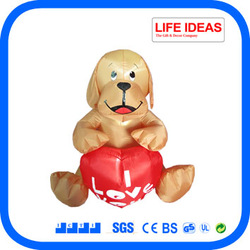 2014 new Valentines decoration 4 foot inflatable dogs