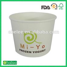 12oz customize frozen yogurt tub with cheap price
