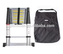 3.8m (12ft6) folding Climb Aluminium Telescopic Ladder/Stabiliser Bar/Carry bag