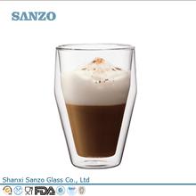 Sanzo Custom Glassware Manufacturer glassware double wall glass espresso cup