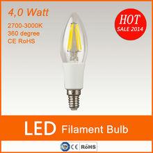 2014 new 360 Degree 85-240V 2W/4W E12 E14 led candle light