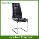 Modern High Back Dining Room Chair with Chromed Leg