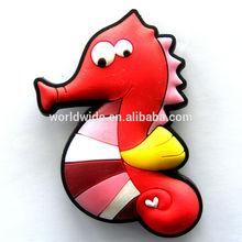 soft pvc seahorse custom shape fridge magnet