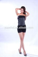 Sexy Women Latex Waist Cincher Body Shaper Underbust Cupless Waist Training Corset Bustier Top