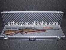 """Waterproof 50"""" Rifle/Long Gun Travel Case with Foam - silver"""