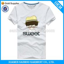 Customized Printing O-Neck Short Sleeve Soft Cotton T Shirt Man