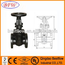 ANSI rising stem/non rising stem ductile iron soft-sealing flange gate valve pn10/pn16/pn25