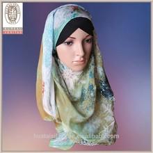 2015 pure silk Snowflake design muslim wholesale hijab