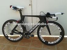 Wholesale 700C oem carbon TT bike frame, time trial carbon triathlon bike . carbon wheelss ,6800 groupset .TT bar