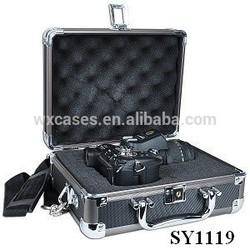 high quality aluminum camera flight case with custom foam insert
