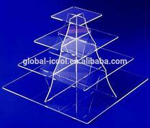POP crystal acrylic wedding cake display stand