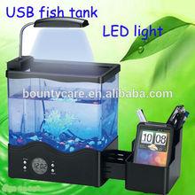 LCD calendar mini aquarium fish tank