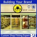 2014 venda quente de madeira para a decoração da sapata do esporte da loja