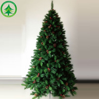 sell like hot cakes 6.9Feet (210cm) stands wholesale pvc christmas tree light snowing christmas decoration