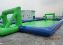 2014 New design inflatable water football pitch