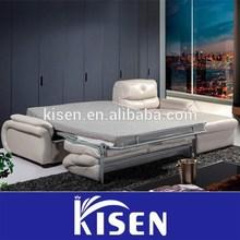 Living room furniture modern genuine leather bed sofa