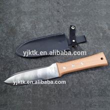 Hori Hori Knife, Japanese Hori Hori Garden Digging Knife, Hori Hori Digging Tools Wood Handle with Leather sheath