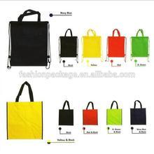 Custom printed logo gift non woven bag/shopping handle non-woven cloth bag for garment