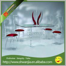 plexiglass dining room table, plexiglass console table, plexiglass desk